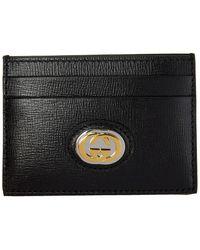 Gucci - ブラック GG Marina カード ホルダー - Lyst