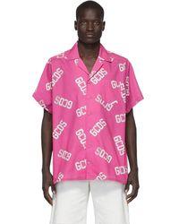 Gcds ピンク モノグラム シャツ