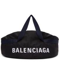 Balenciaga - Black And Navy Medium Wheel Duffle Bag - Lyst