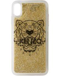KENZO ゴールド タイガー Iphone X+ ケース - マルチカラー