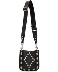 Isabel Marant Black Nasko Studded Hobo Day Bag