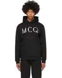 McQ - ブラック ロゴ フーディ - Lyst