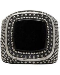 Emanuele Bicocchi - Silver Square Stone Ring - Lyst