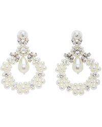 Simone Rocha Boucles doreilles blanches Jewelled Cluster Cameo
