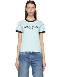 Lanvin - ブルー Embroidered ロゴ T シャツ - Lyst