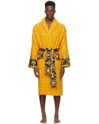 Versace Yellow I Heart Baroque Bath Robe