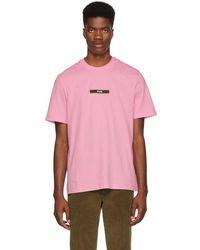 MSGM - Pink Logo T-shirt - Lyst