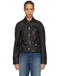 JW Anderson - Black Belted Leather Jacket - Lyst
