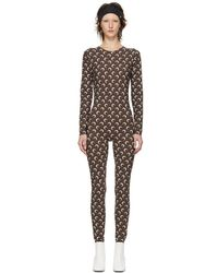 Marine Serre Brown All Over Moon Catsuit