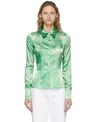 Opening Ceremony Green Allover Marble Shirt