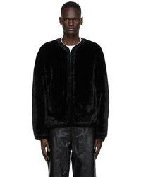 we11done - Black Faux-fur Jacket - Lyst