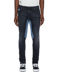 Alchemist Ssense Exclusive Black & Blue Ringo Jeans