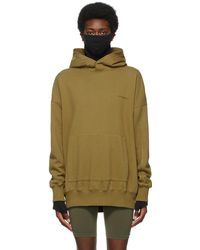 A_COLD_WALL* * Khaki Organic Dissection Hoodie - Green