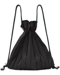 Issey Miyake Sac a dos noir Linear Knit