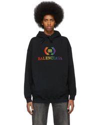 Balenciaga - Black Rainbow Bb Hoodie - Lyst