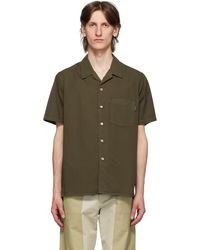 PS by Paul Smith Khaki Classic Fit Short Sleeve Shirt - Green