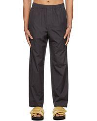 Lemaire Pantalon de pyjama en coton exclusif à ssense - Noir