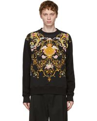 Versace Jeans Couture ブラック Versailles スウェットシャツ