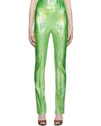 Saks Potts Green Lissi Shimmer Pants