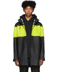Stutterheim Black Reflective Sleeve Stockholm Raincoat