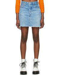 Levi's ブルー Ribcage ミニスカート