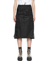 Sacai ブラック Ma-1 スカート