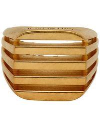 Balenciaga Gold Bone Ring - Metallic