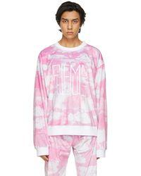 Phlemuns ピンク ロゴ スウェットシャツ
