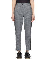 Rag & Bone - Pantalon a carreaux gris et bleu Meki Stripe - Lyst