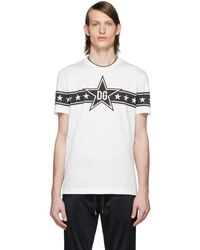 Dolce & Gabbana - ホワイト Dg Stars Millennials T シャツ - Lyst