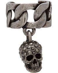 Alexander McQueen - シルバー Chain & Skull イヤ カフ - Lyst