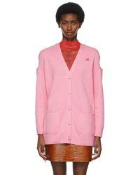 Givenchy ピンク ロゴ カーディガン