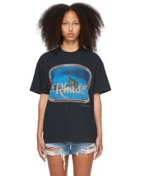 Rhude Lone Wolf T-shirt - Black