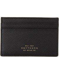 Smythson - ブラック Panama カード ケース - Lyst