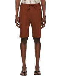 Cmmn Swdn Brown Jayson Shorts