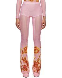 CHARLOTTE KNOWLES Pink Halcyon Leggings