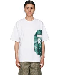 A Bathing Ape - ホワイト & グリーン 迷彩 Color Side Big Ape Head Relaxed T シャツ - Lyst