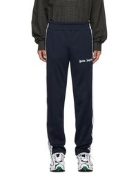 Palm Angels Navy Classic Track Pants - Blue