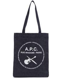 A.P.C. - インディゴ Guitar Poignard トート - Lyst