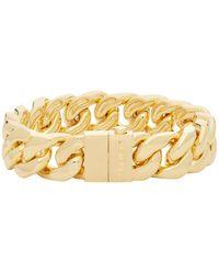 Ambush Gold Classic Chain 7 Bracelet - Metallic
