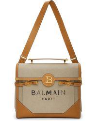 Balmain ベージュand ブラウン B-buzz 40 ブリーフケース - ナチュラル