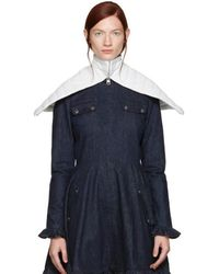 JW Anderson Off-white Leather Capelet