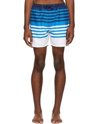 BOSS - Blue Striped Sandfish Swimsuit - Lyst