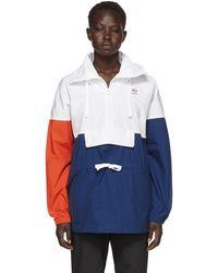 Reebok - White Colorblock Anorak Jacket - Lyst