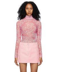 Givenchy ピンク & ホワイト 4g タートルネック