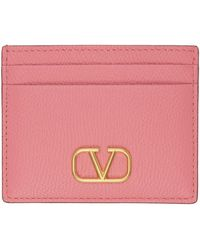 Valentino Garavani - ピンク Vlogo カード ケース - Lyst