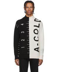 A_COLD_WALL* * ブラック And ホワイト ロゴ ジャカード セーター