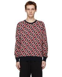 Moncler - ブラック & レッド ロゴ セーター - Lyst