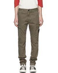 Stone Island - Green Cargo Trousers - Lyst