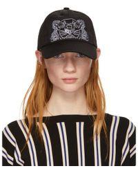 KENZO - Black Tiger Cap - Lyst